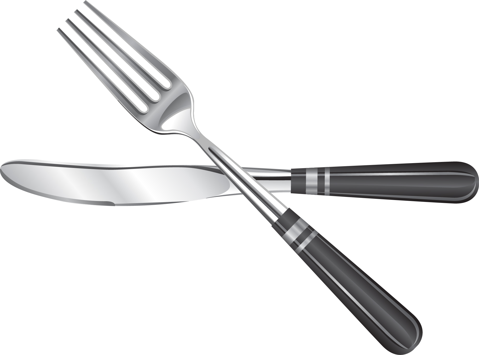 how to hold a fish knife and fork